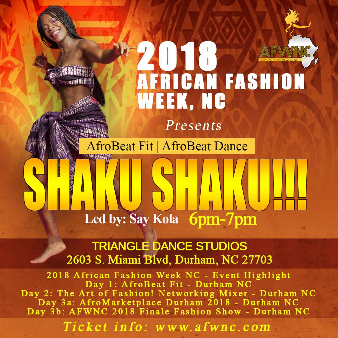 AfroBeats Fit - Afrobeat Dance - SHAKU SHAKU!!! - 6 SEP 2018