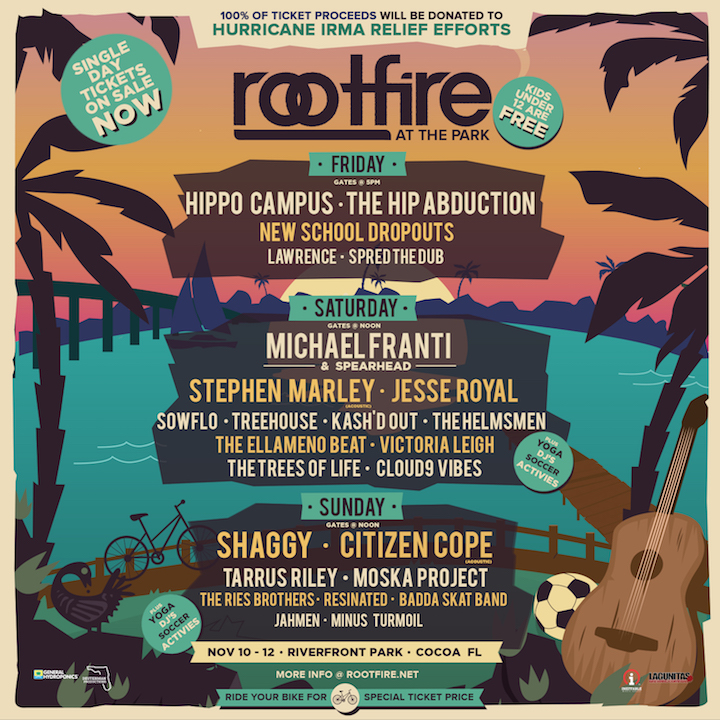 Rootfire At The Park 2017_3-Day Lineup
