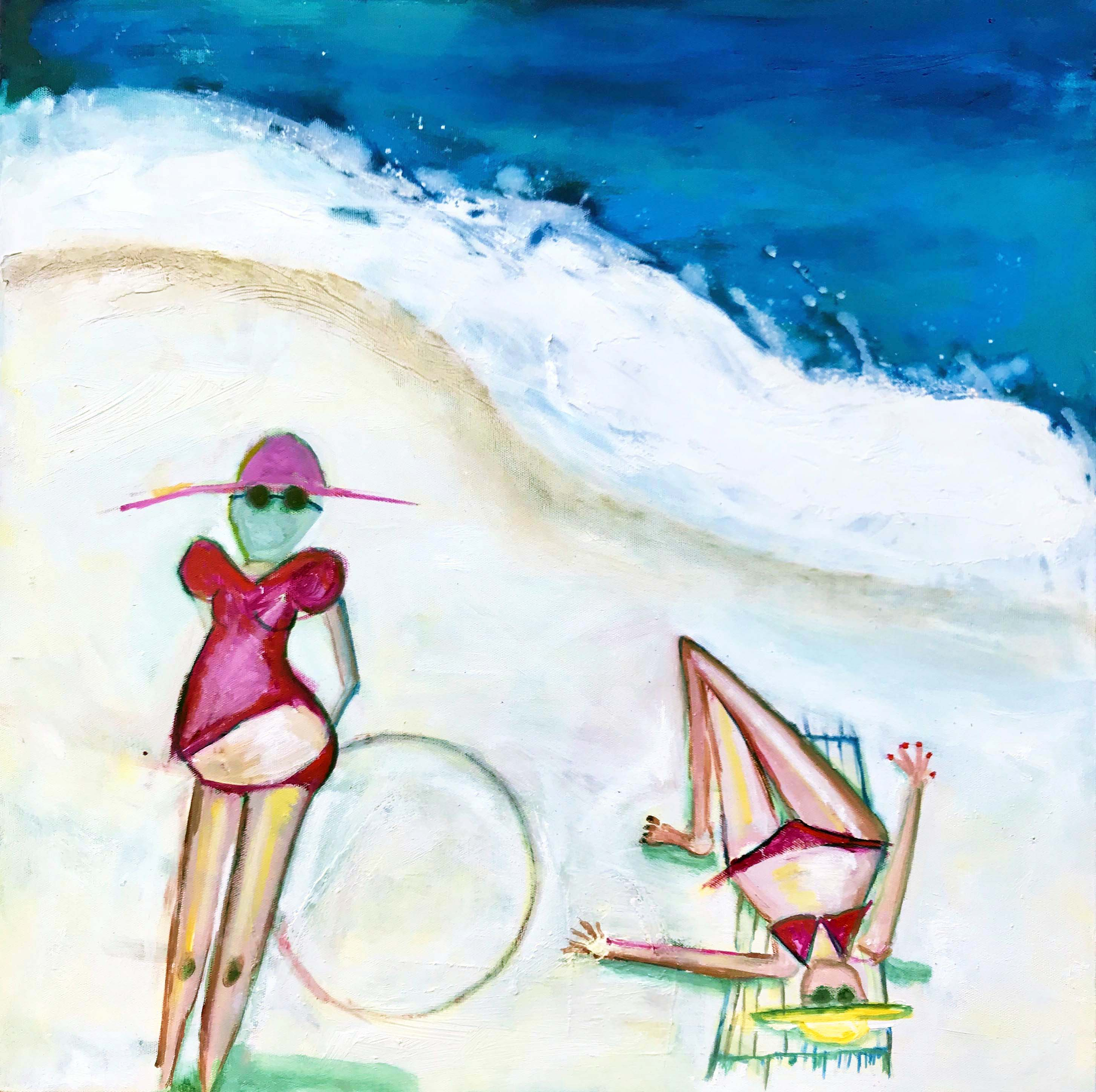 City Beach Girls by Artist Louise Farnay