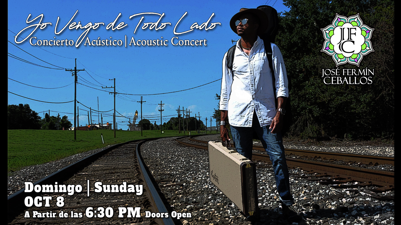 """Acoustic Concert: """"Yo Vengo de Todo Lado"""" (I Come from Everywhere) at Café Istanbul (2372 St. Claude Ave.) on Sunday, October 8th, 2017 from 6:30 to 11:30pm"""