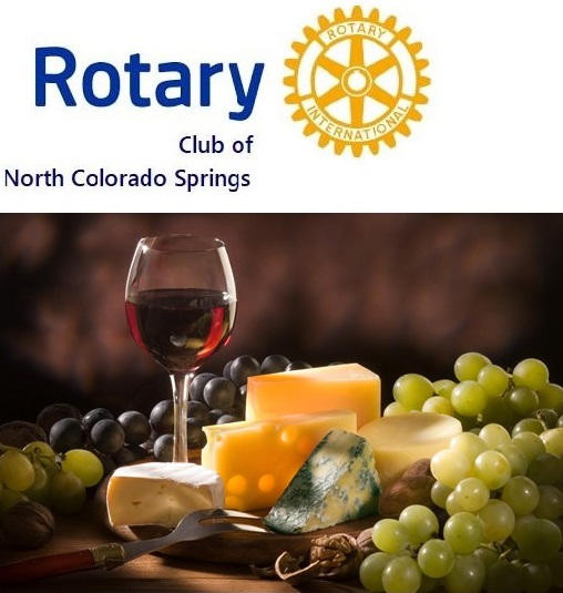 N Co Springs Rotary Logo & wine image