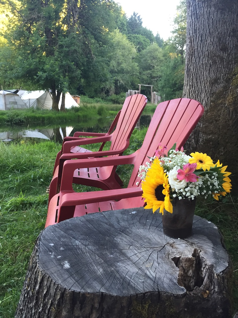 Chairs by the pond 2017