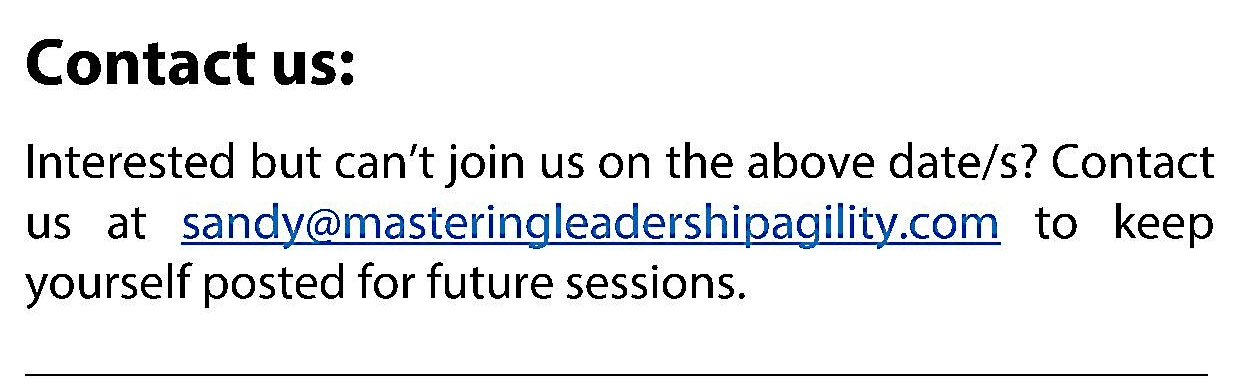 Mastering Leadership Agility - Contact Us
