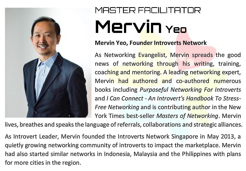 Mastering Leaddership Agility - Speaker bio Mervin Yeo