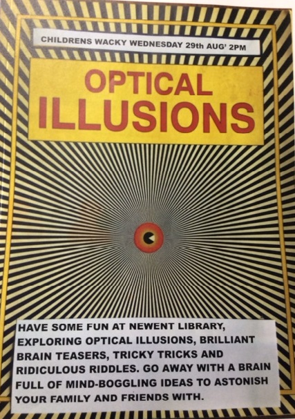 Newent Library Optical Illusion Event 29/08/18