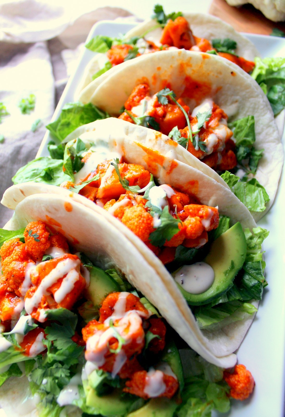 Vegan Buffalo Tacos