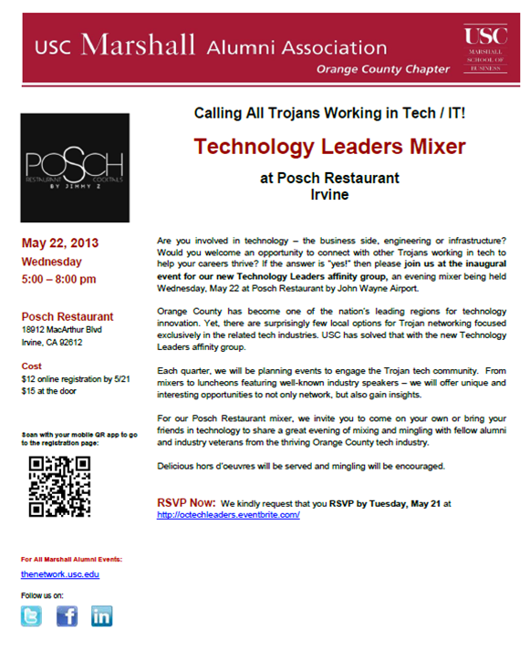USC OC Tech Leaders Mixer