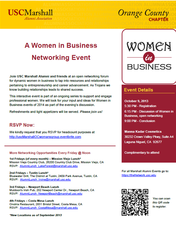 USC Women in Business Networking Event