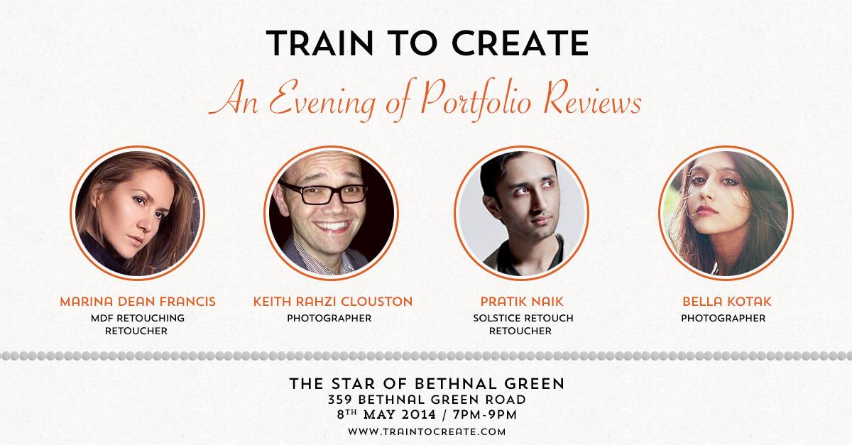 Train to Create Meet Up / Pratik Naik - Mdf retouching / Bella Kota / Keith Rahzi Clouston