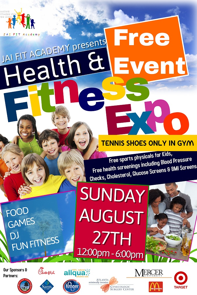 JAI FIT ACADEMY & Fulton County Parks and Recreation presents Health and Fitness Expo
