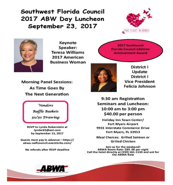 American Business Women's Day SWFL Council 2017