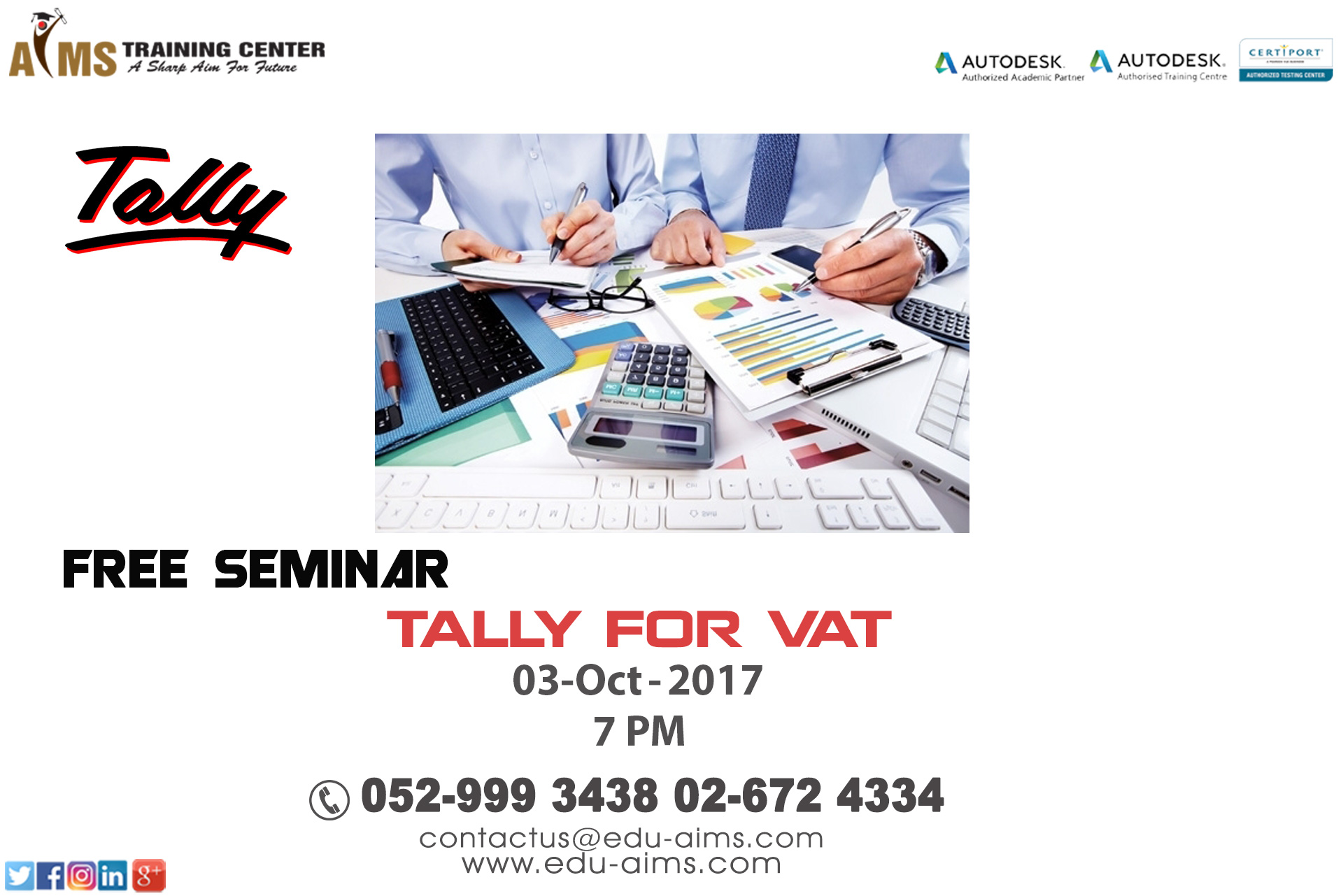Free seminar on tally at aims training center abu dhabi tickets free seminar covers basic knowledge to meet the accounting requirements of the industry we not only teach the concepts but also help you learn 1betcityfo Gallery