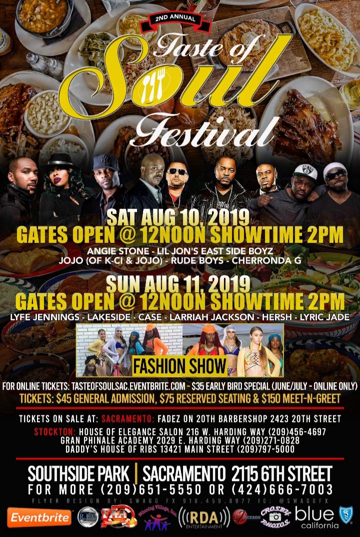 Taste Of Soul Sacramento Tickets, Multiple Dates | Eventbrite