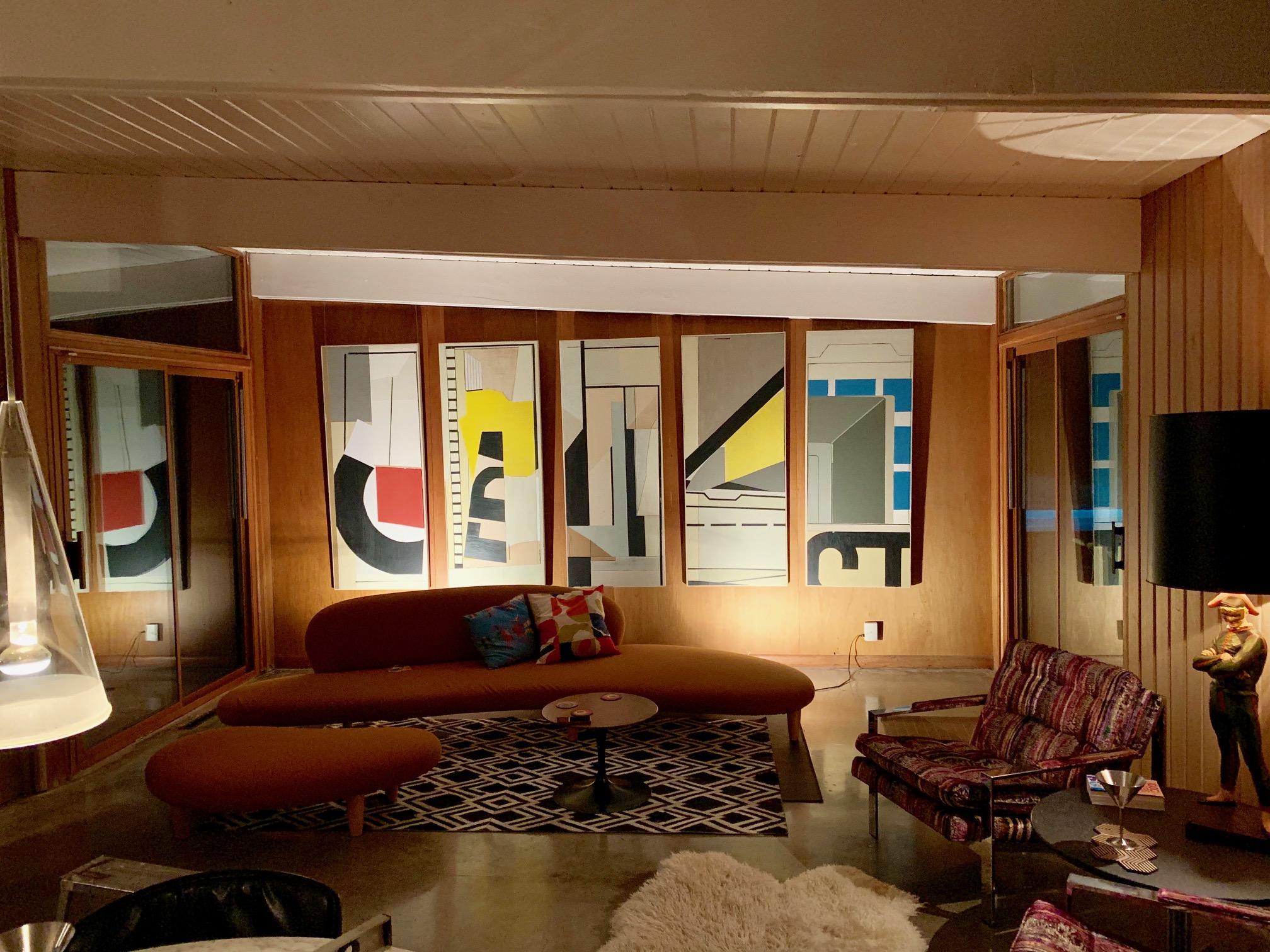 mid-century modern home interior