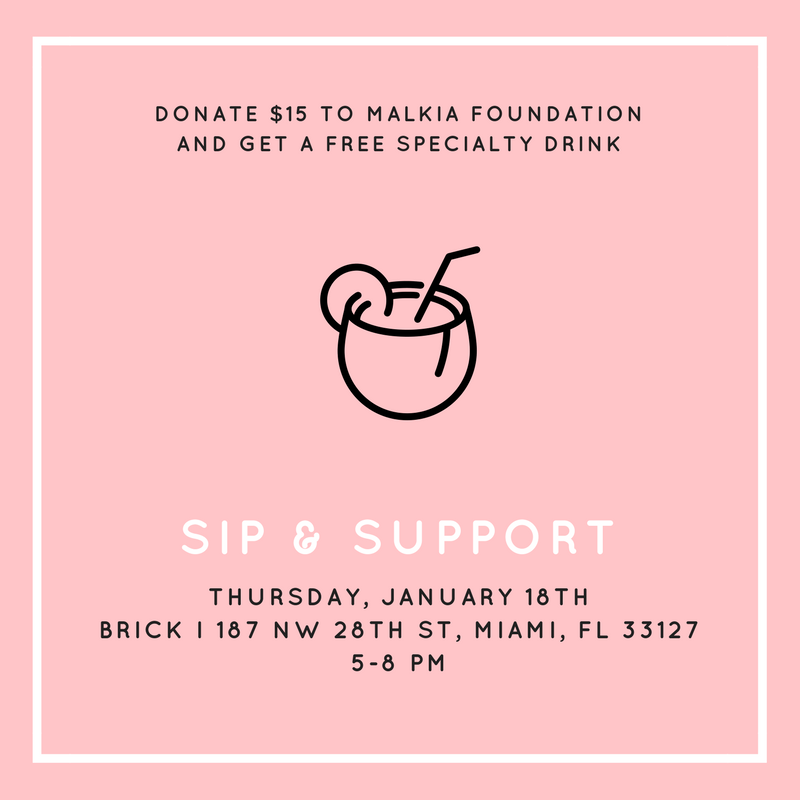 Sip and Support Flyer