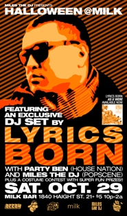 Lyrics Born Flyer (Party Ben)