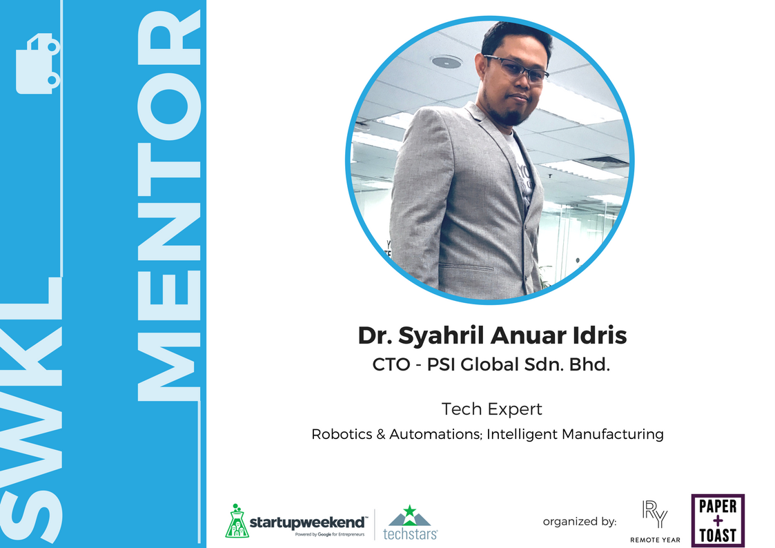 Syahril Anuar Idris is a PhD graduated of UTEM specialised in Autonomous & Intelligent Mfg. With 6 years of R&D experience in industrial and 4 years of research in Mfg. Eng., Dr Syahril able to identify skill and knowledge required for industrial.