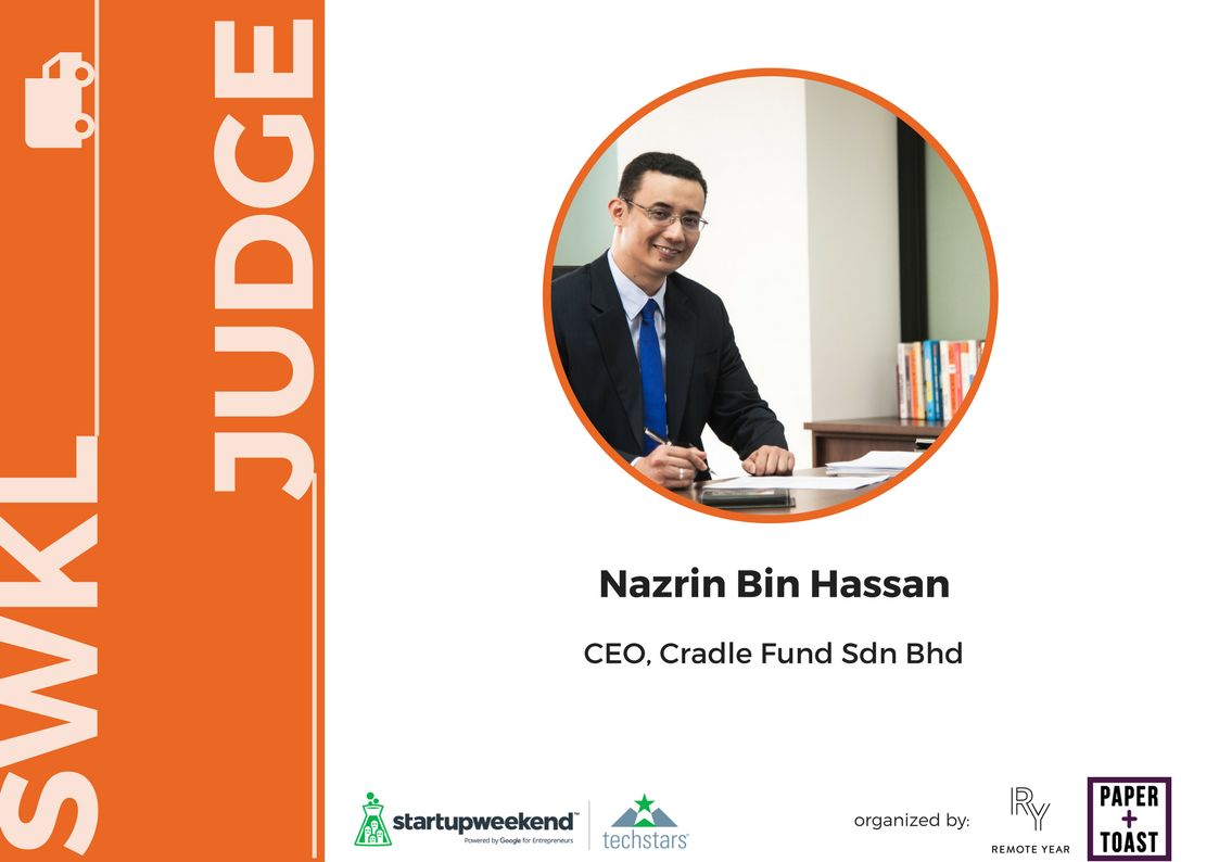 Nazrin Hassan is the Group CEO of Cradle, an organisation that provides funding and investment from Pre-Seed to Series A for potential and high-calibre technology start-ups. For more than 15 years, Nazrin Hassan has dedicated his efforts in promoting early stage funding for technology start-ups.