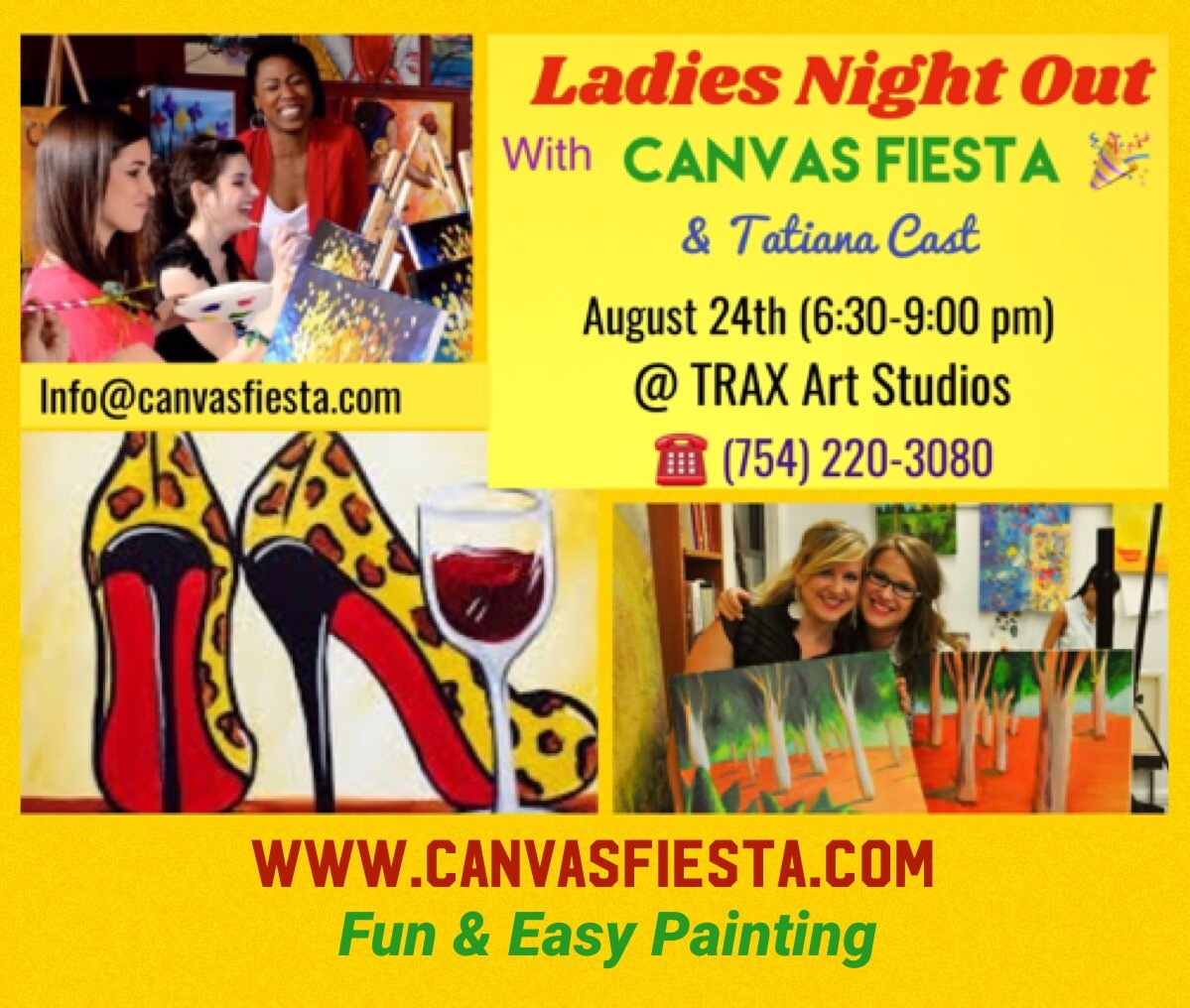 LADIES NIGHT OUT PAINTING WITH CANVAS FIESTA