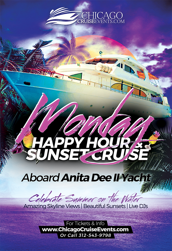 Chicago Cruise Events Monday Night Happy Hour & Sunset Cruise