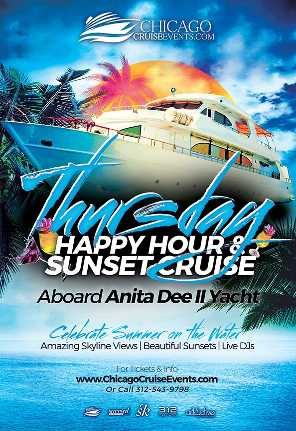 Chicago Cruise Events Thursday Night Happy Hour & Sunset Cruise