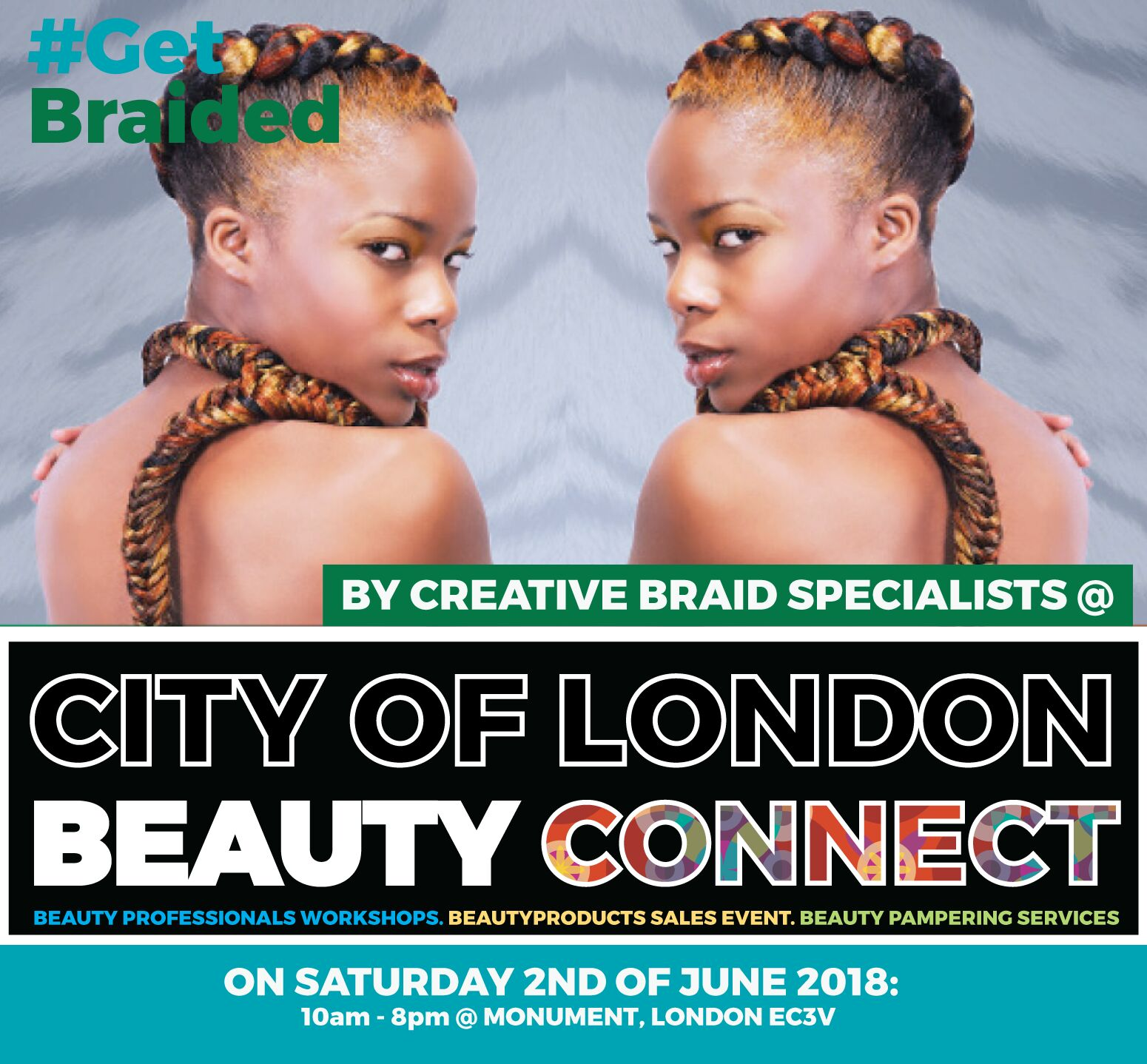 Be braided By hair artist @ Monument City of London