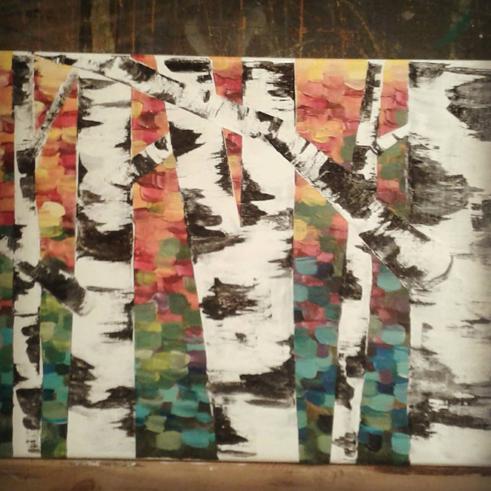 Birch Trees in Fall for our Oct. 18th Workshop!