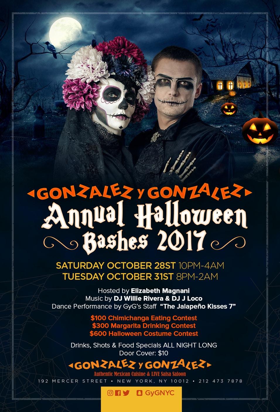 Gonzalez y Gonzalez Annual Halloween Bashes Poster