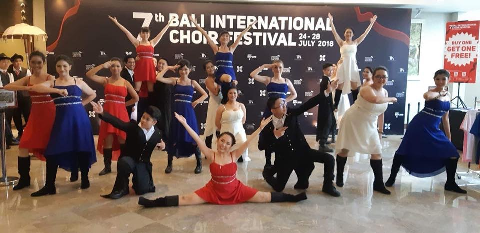 Broadway Academy Show Choir team at BICF2018
