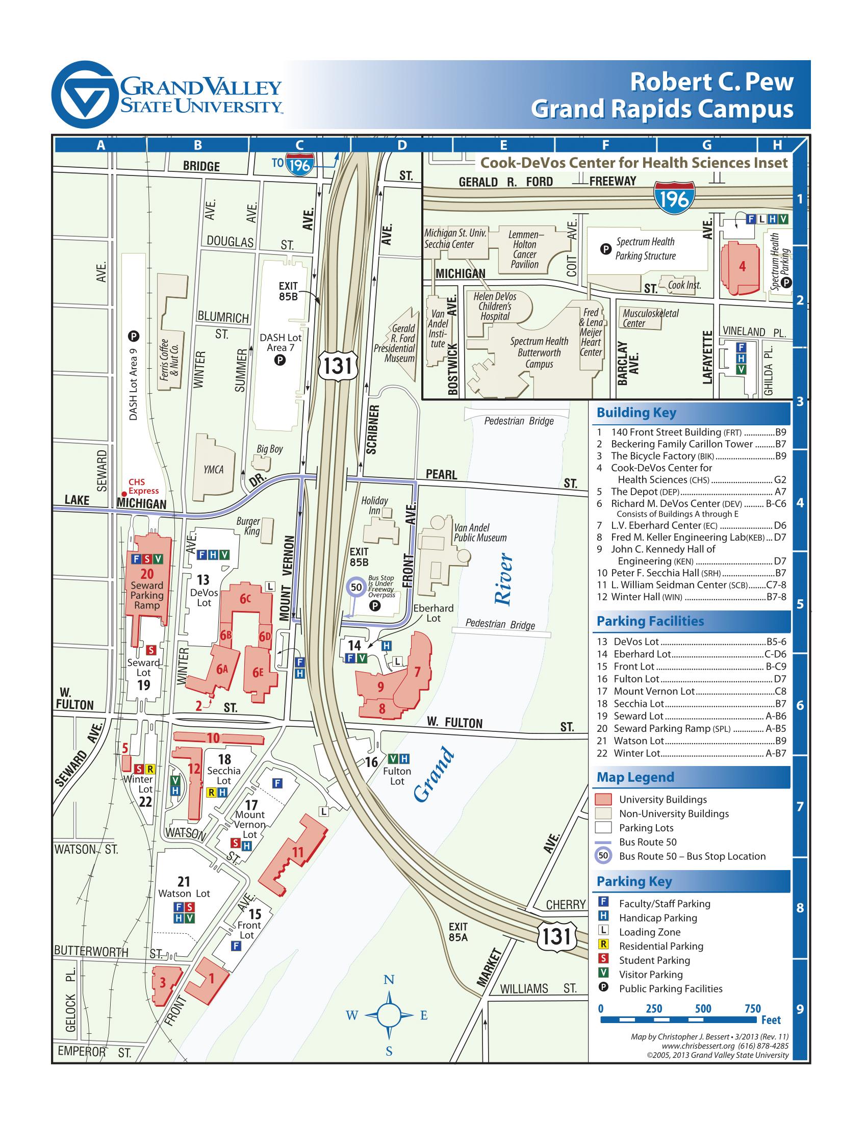 Pew Campus Map
