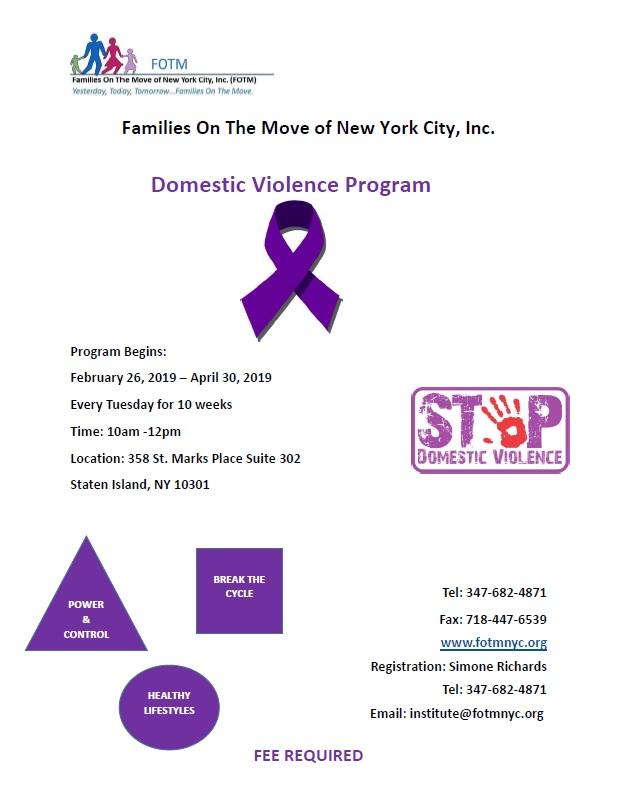topics for domestic violence