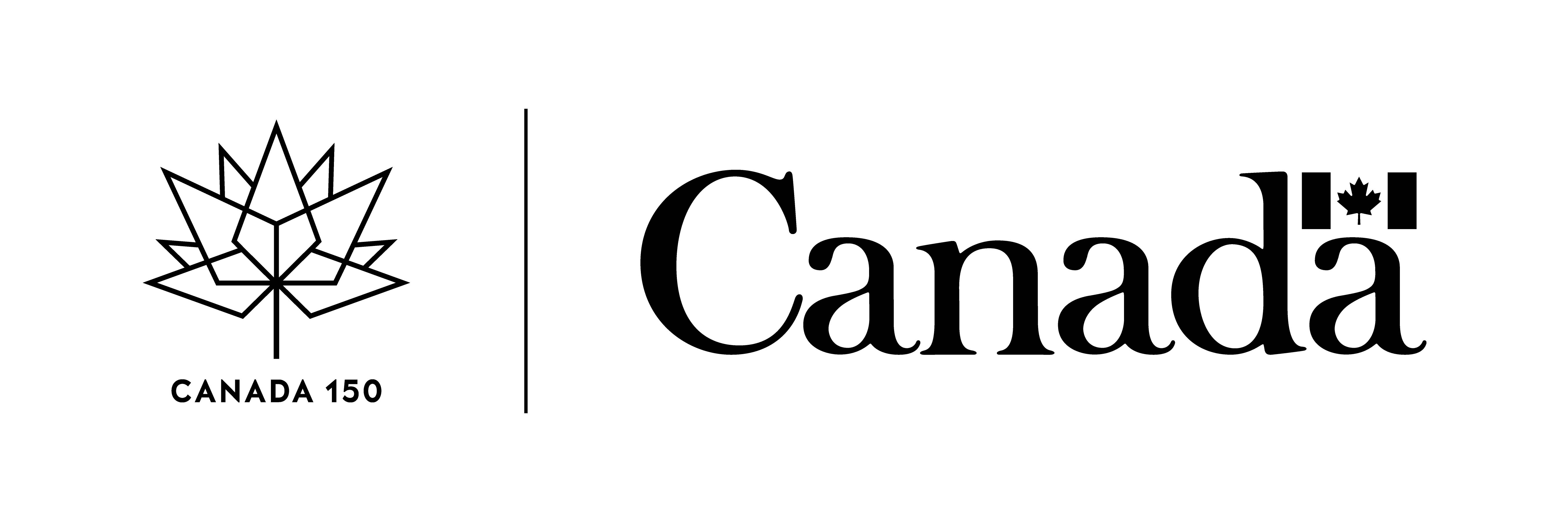 Canada 150 logo combined with Government of Canada logo