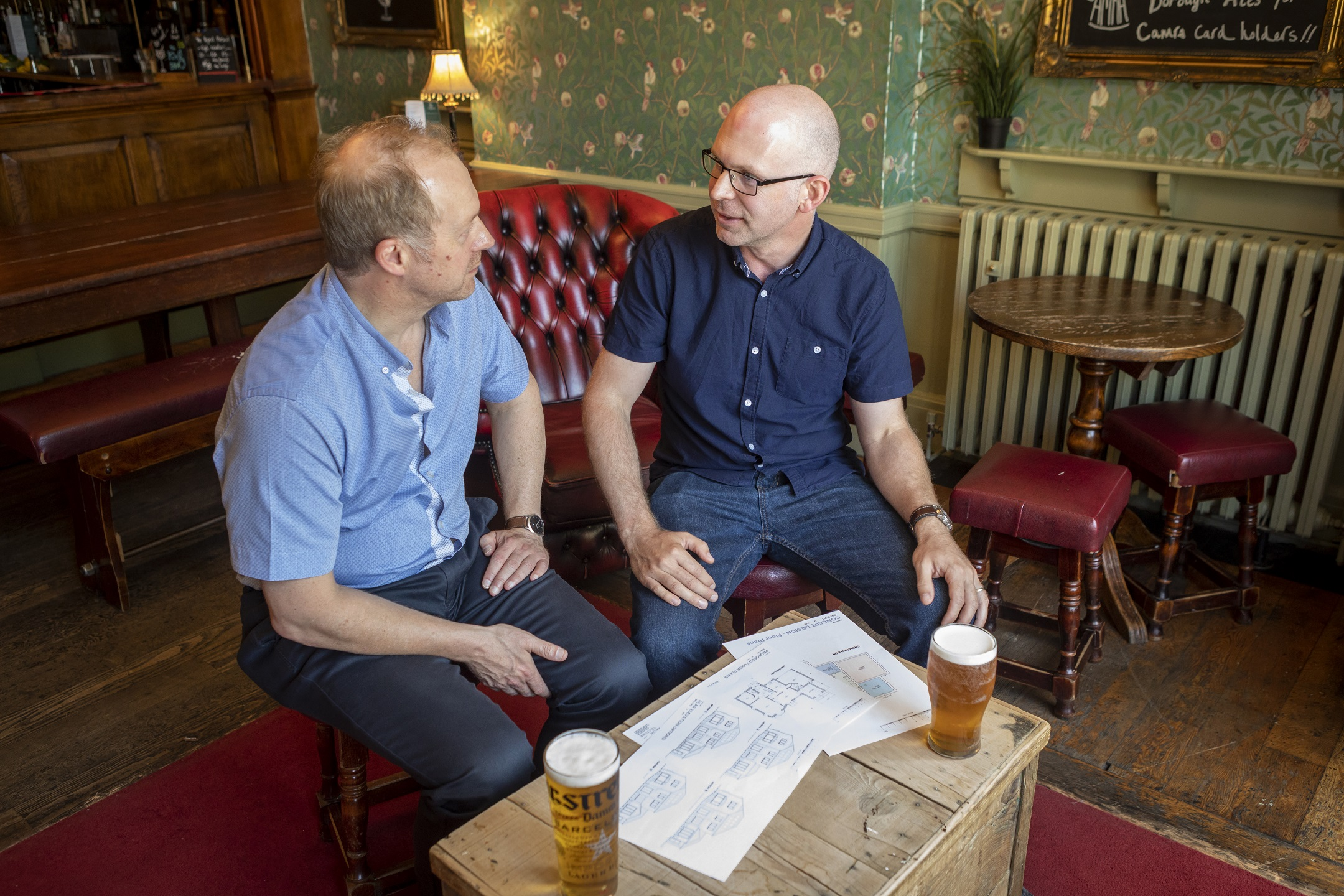A meeting at the pub with Jon Clayton