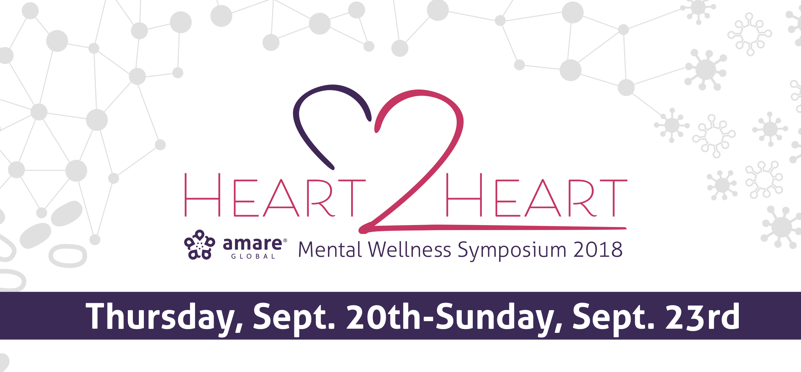 Join us at Amare Global's FIRST ANNUAL HEART2HEART MENTAL WELLNESS SYMPOSIUM
