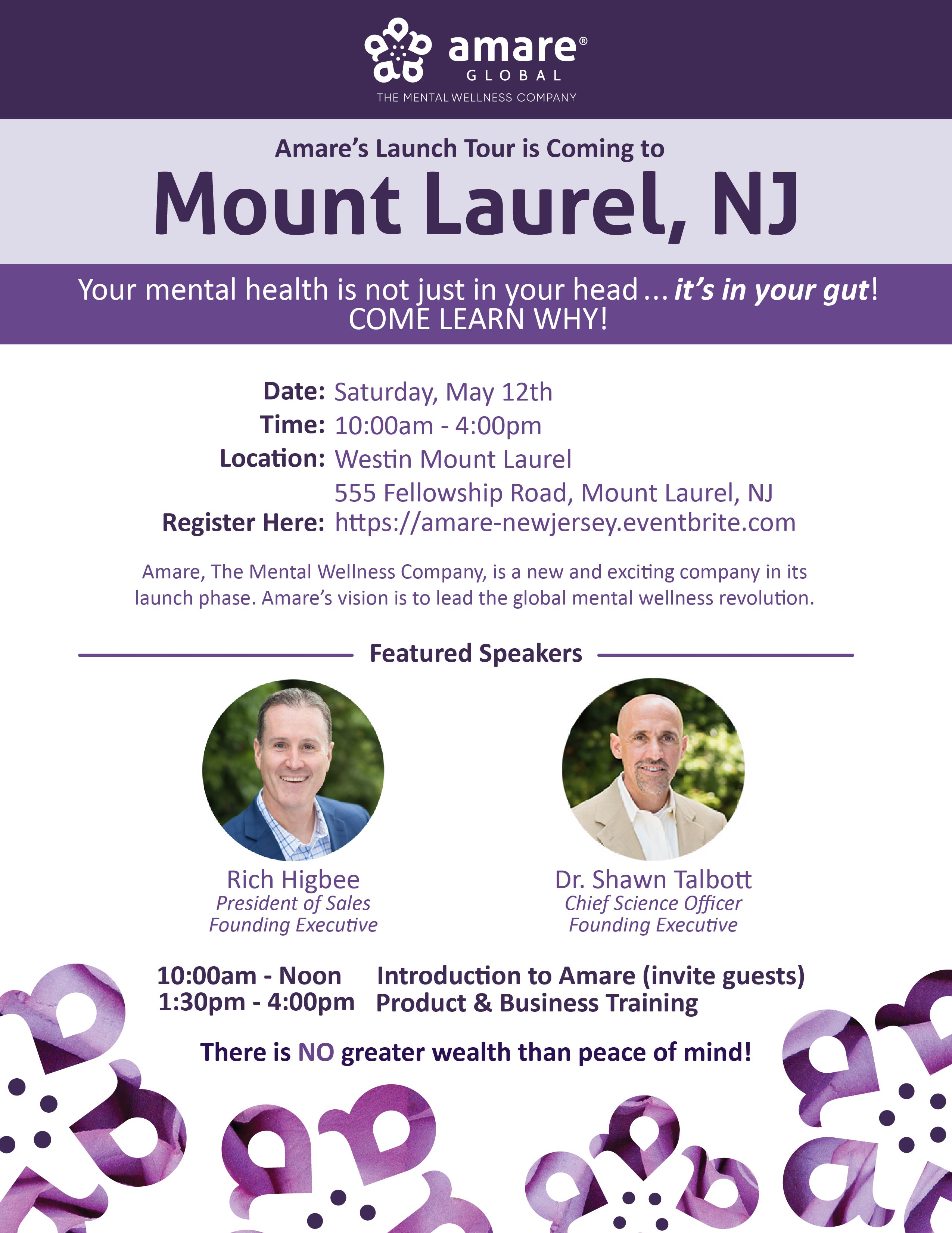 May 12th Mount Laurel, NJ Launch Tour Event