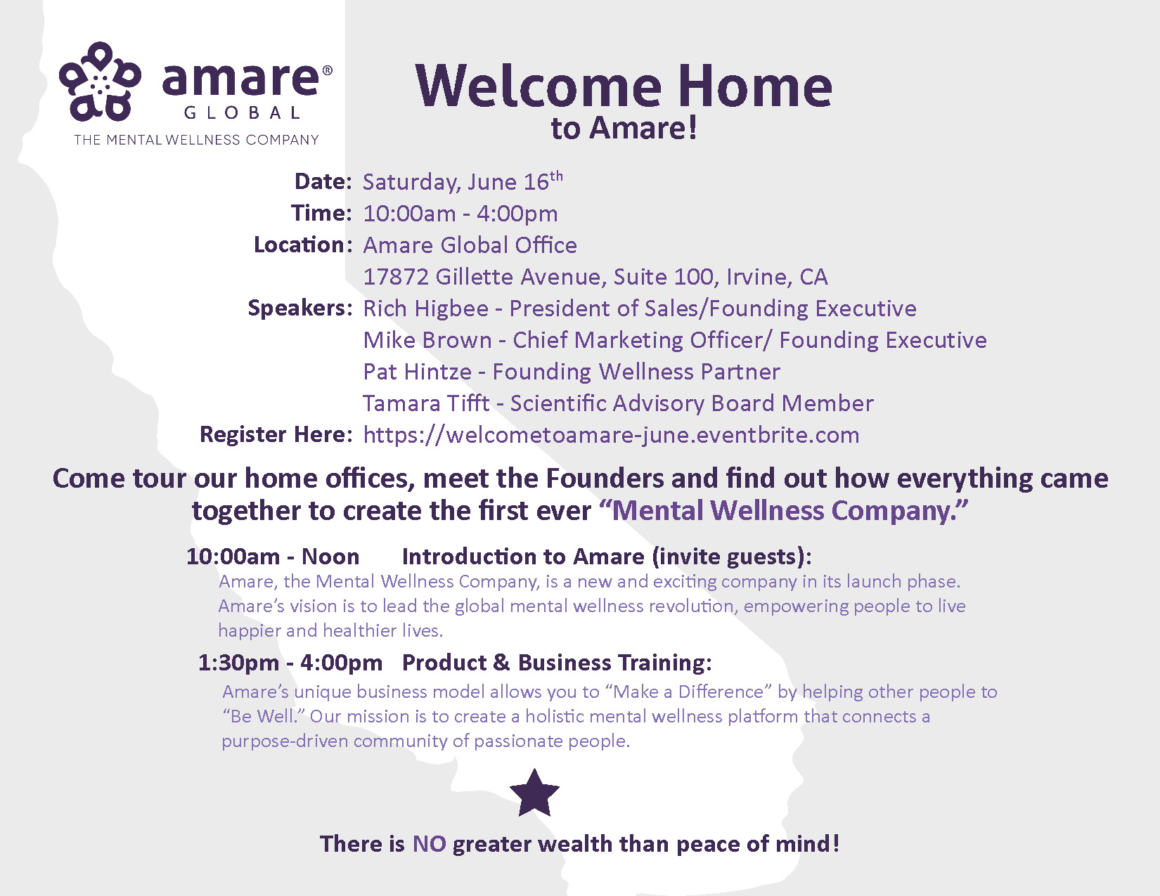 Amare Welcome Event -June 16, 2018