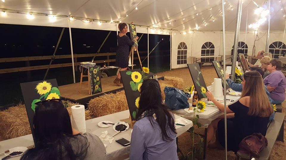 Sunflower Pick-n-Paint Group 2016-1