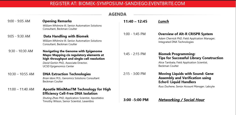 2019 Biomek Symposium Final Agenda