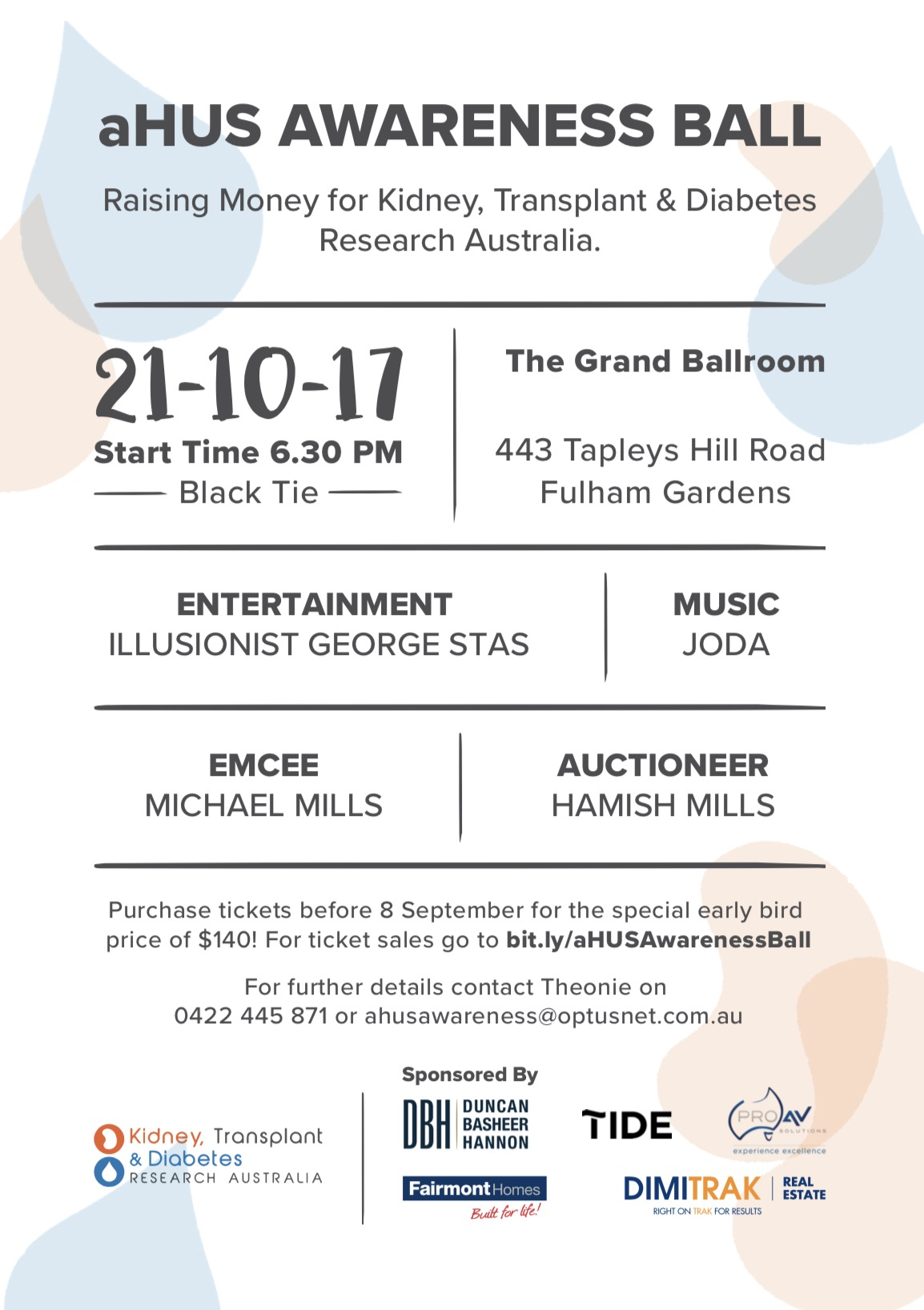 aHUS Awareness Ball Flyer