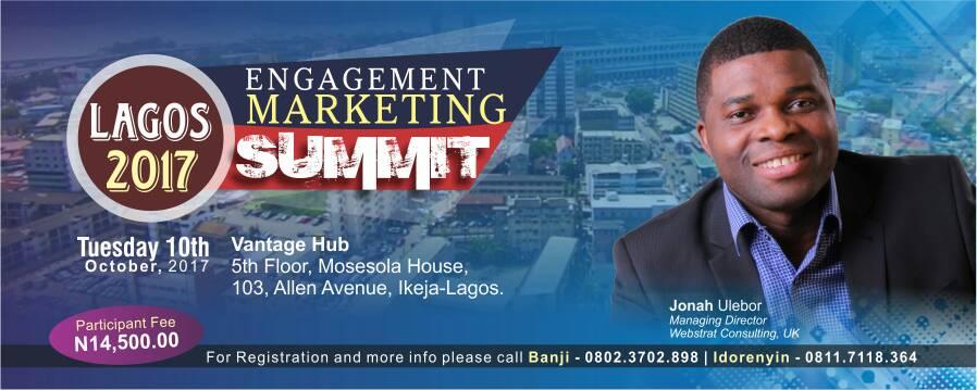 ENGAGEMENT MARKETING SUMMIT - LAGOS 2017