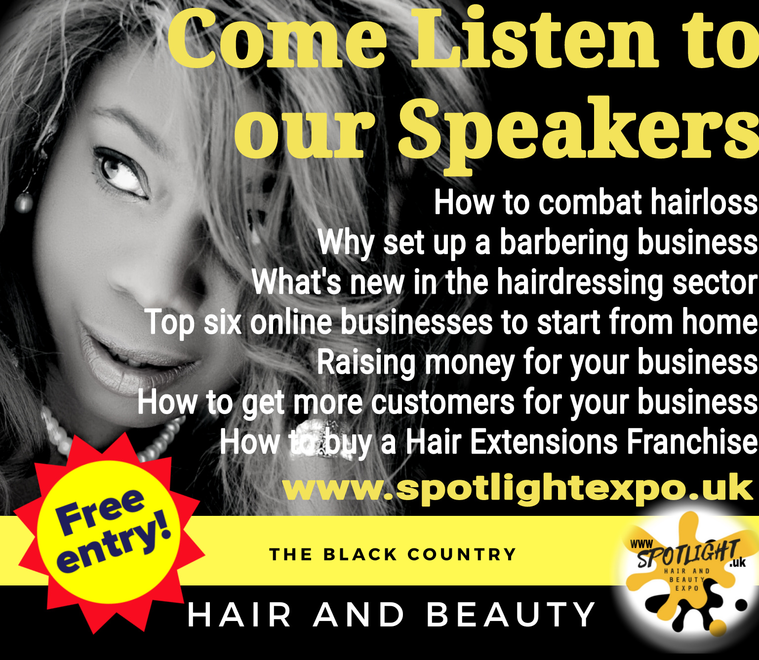 Come listen to our speakers at the spotlightexpo show