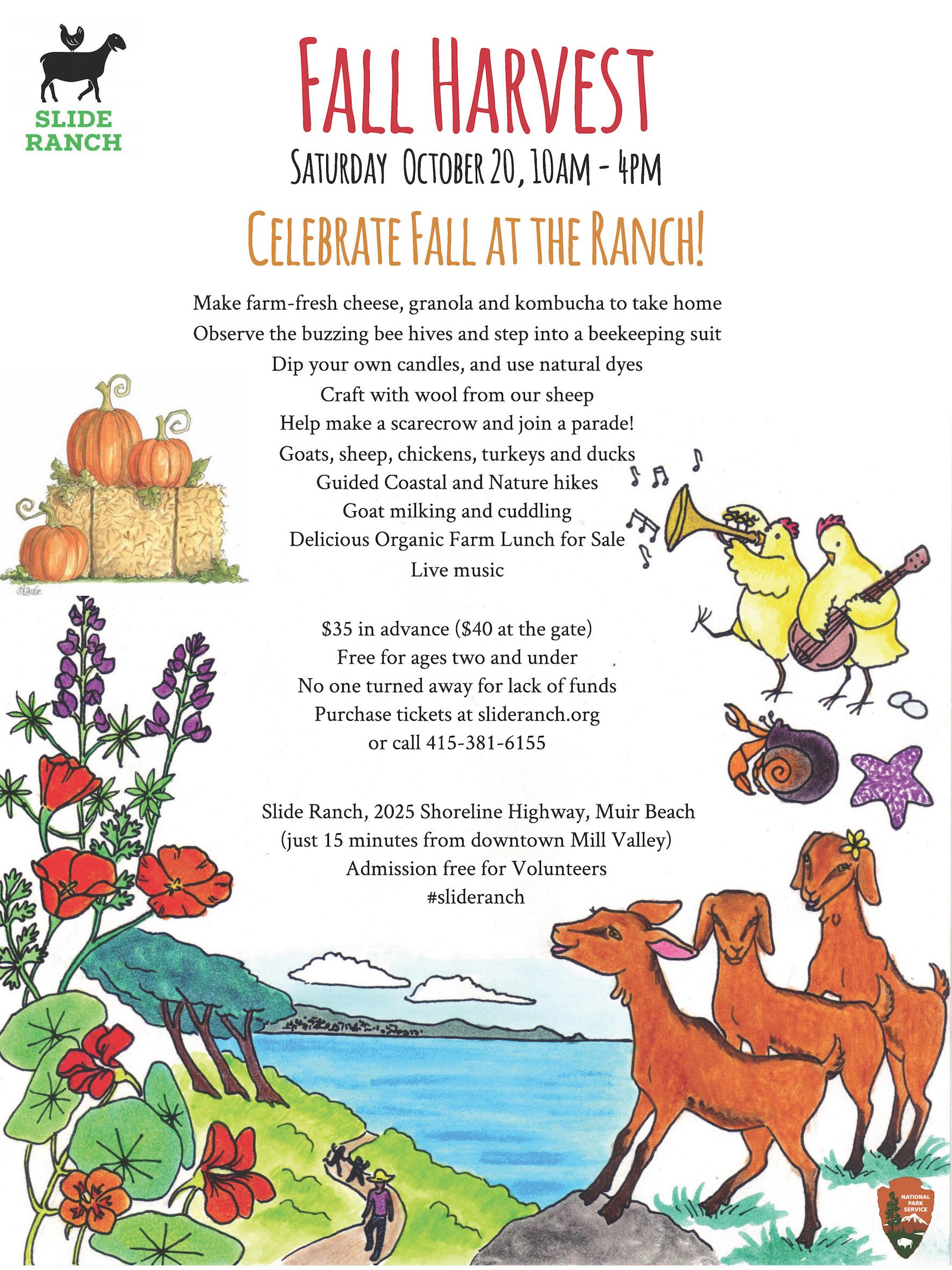 Slide Ranch Fall Harvest flyer