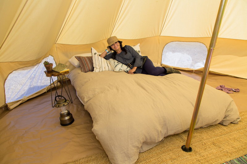Slide Ranch Glamping tent interior