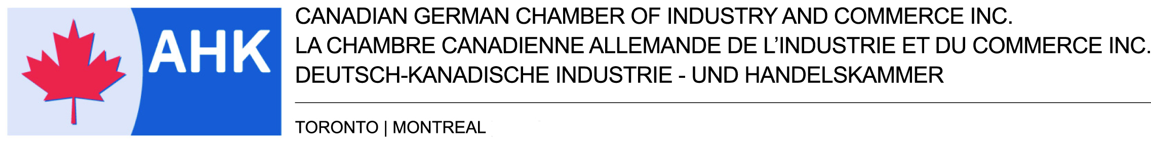 AHK Canadian German Chamber of Industry and Commerce
