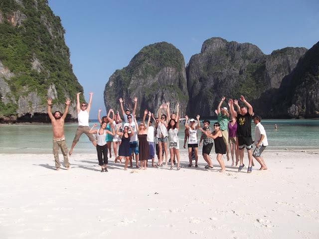 Thailand beach group photo