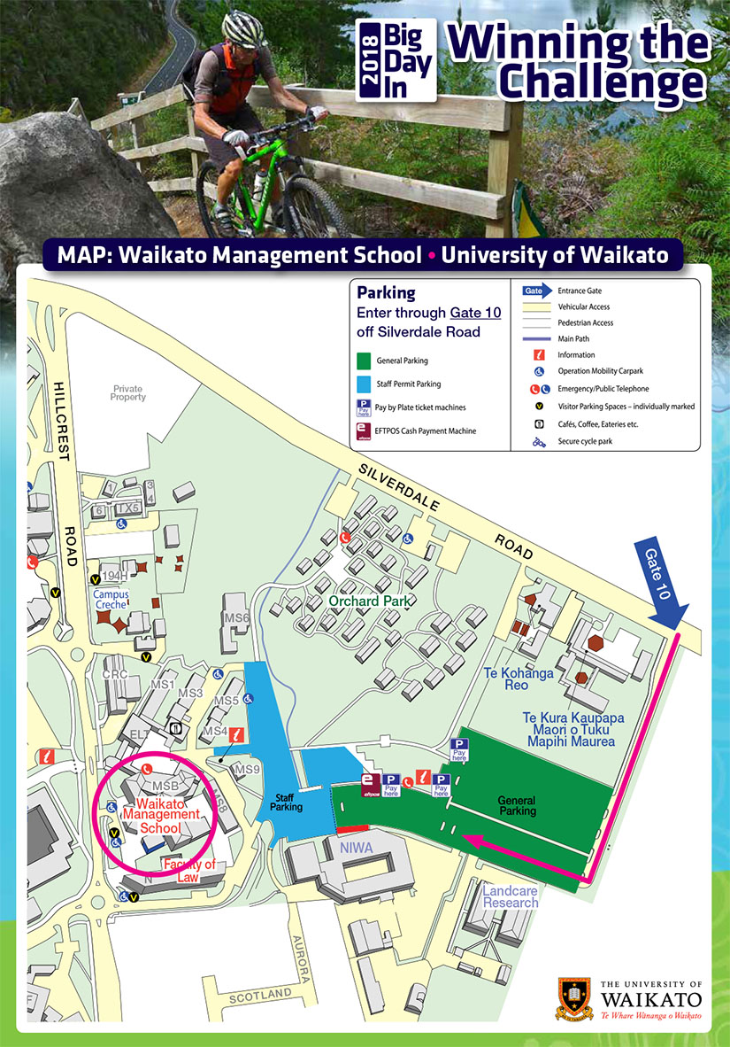 Map of venue and parking
