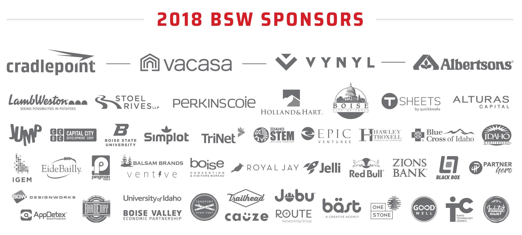 Boise Startup Week Sponsors