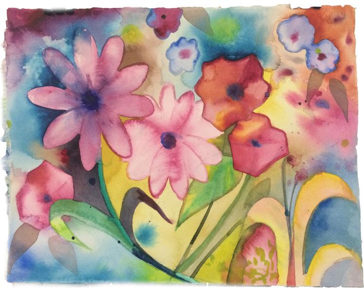 Spring Flowers Watercolor