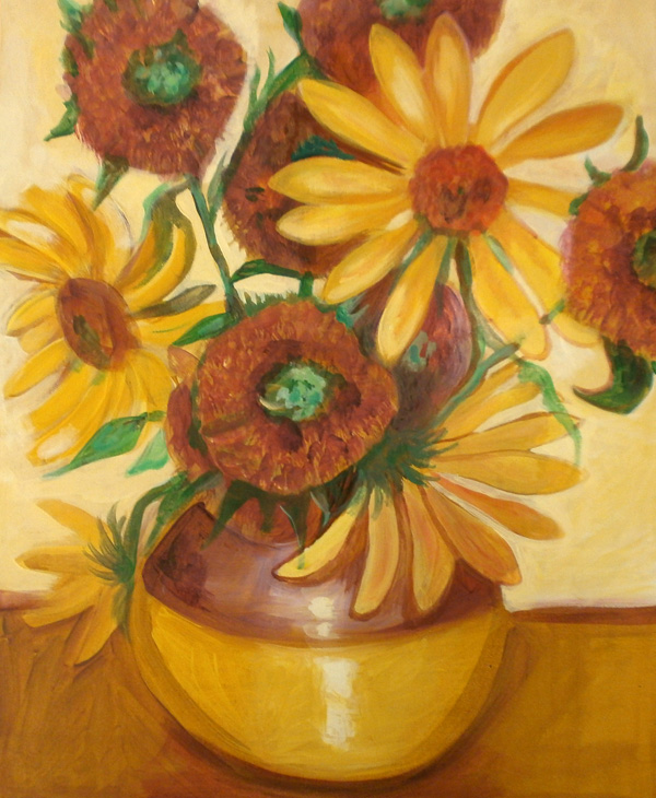 Sunflowers, Acrylic