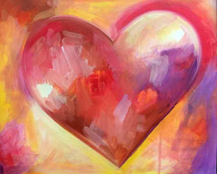 Valentine acrylic painting